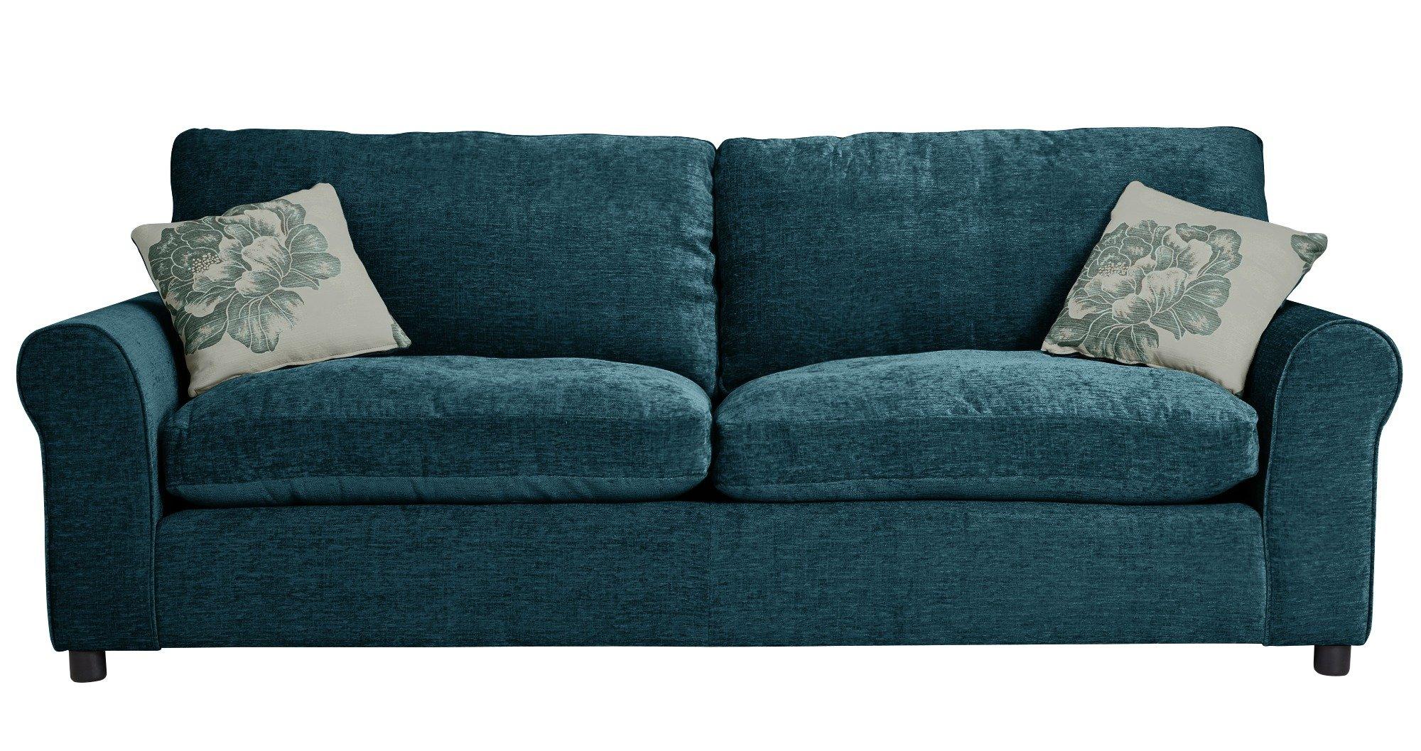 Great HOME Tessa 4 Seater Fabric Sofa   Teal