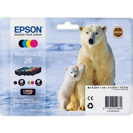 Epson 26 Polar Bear Ink Cartridges - Black & Colour