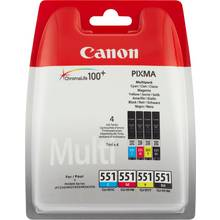 Canon CLI-551 Multipack Colour Ink Cartridge