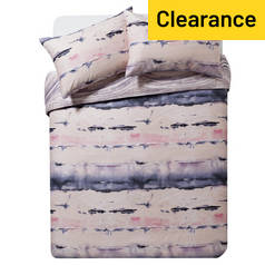 Argos Home Sofia Blush Marble Bedding Set - Kingsize
