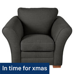 Argos Home Thornton Fabric Chair - Charcoal
