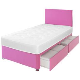 Airsprung Elliott Pink Storage Divan with Headboard