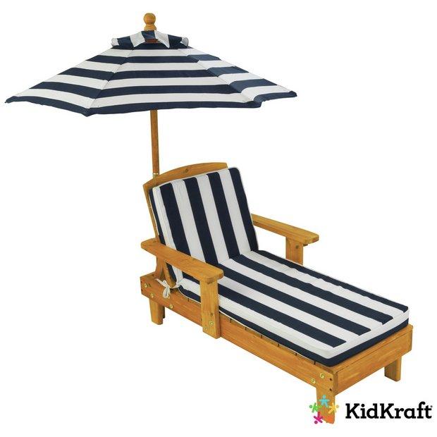 Stupendous Buy Kidkraft Outdoor Chaise With Umbrella Kids Outdoor Furniture Argos Spiritservingveterans Wood Chair Design Ideas Spiritservingveteransorg