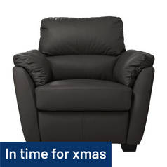 Argos Home Trieste Leather Chair - Black