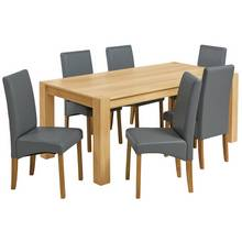 Heart Of House Alston Oak Veneer Table And 6 Chairs