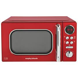 Morphy Richards Evoke Red Microwave 20L Solo 800w 511502