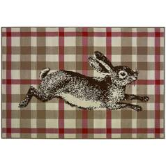 Maestro Checked Rabbit Rug - 160x230cm
