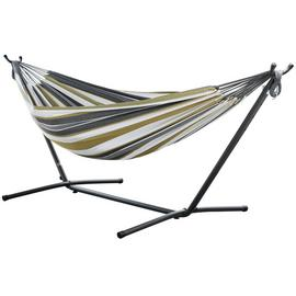Vivere Double Cotton Hammock with Stand - Desert Moon