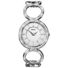 Seksy Ladies' 4720 Pearl Dial Stone Set Bracelet Watch