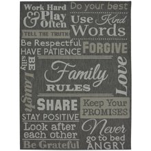 County Family Rules - 120x170cm - Grey