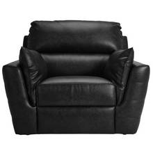 HOME Denver Leather Effect Chair - Black