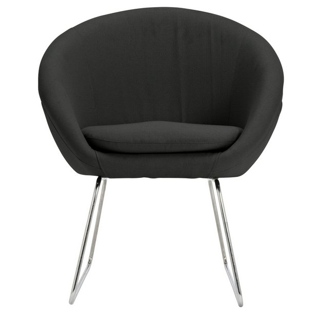 Buy Argos Home Fabric Pod Chair Charcoal | Armchairs and chairs | Argos