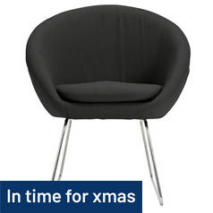 Hygena Fabric Pod Chair - Charcoal