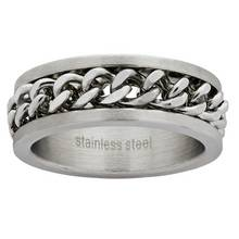 Revere Men's Stainless Steel Chain Ring