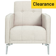 Argos Home Tori Fabric Armchair in a Box - Natural