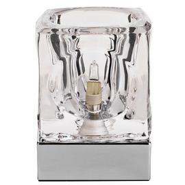Argos Home Cuba Glass & Chrome Touch Table Lamp