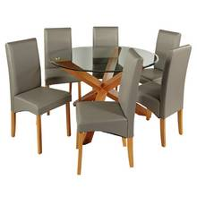 Heart Of House Oakington Round Glass Table And 6 Chairs