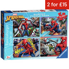 Puzzles and jigsaws argos ravensburger marvel spider man 100 piece puzzles 4 pack gumiabroncs Images