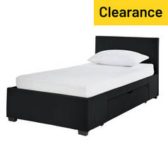 Argos Home Lavendon Black Single 1 Drawer Bed Frame
