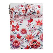 HOME Lily Graphic Floral Bedding Set - Double