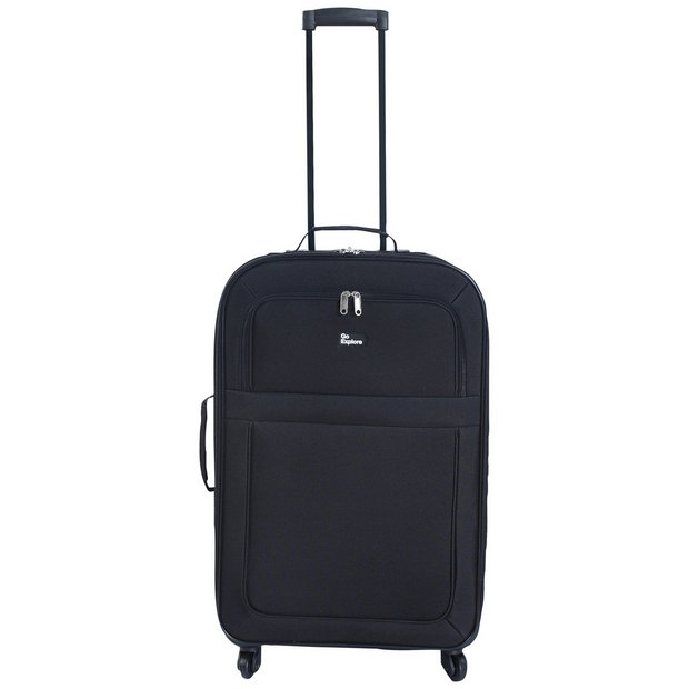 6ac67620 Buy Go Explore Medium 4 Wheel Soft Suitcase - Black | Limited stock ...