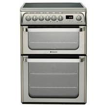 Hotpoint HUE61XS 60cm Double Oven Electric Cooker - Silver