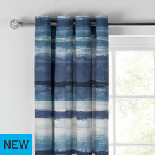 Collection Watercolour Lined Curtains - 117x137cm - Denim