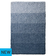 Collection Ombre Supersoft Shaggy Rug - 170x110cm - Blue