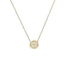 Revere 9ct Gold Cut Out Round 17inch Necklace