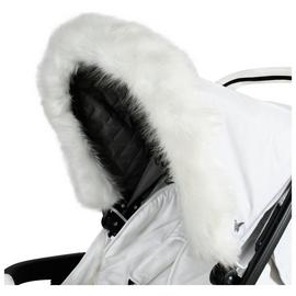 My Babiie Fur Hood Trim - White