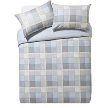 Collection Louis Blue Brushed Cotton Bedding Set - Double