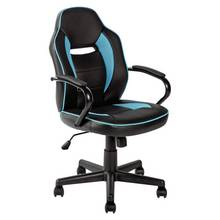 Argos Home Mid Back Office Gaming Chair - Blue & Black