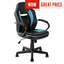 HOME Mid Back Office Gaming Chair - Blue & Black