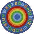 Slip Resistant Circle Rug - 200x200cm - Rainbow Alphabet
