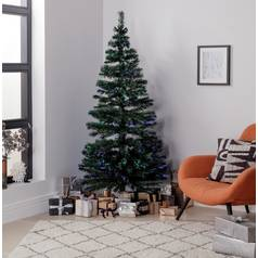 argos home 6ft fibre optic christmas tree green