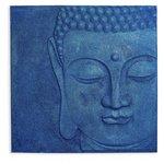 more details on Arthouse Glitz Glitter Buddha Wallart - Navy.
