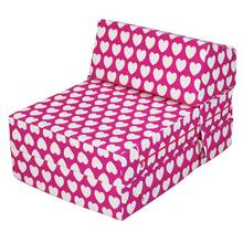HOME Flip Out Chair Bed - Hearts
