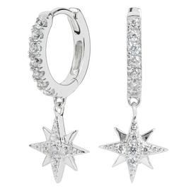 Revere Sterling Silver Celestial Drop Huggie Hoop Earrings