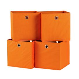 Habitat Set of 4 Squares Boxes - Orange
