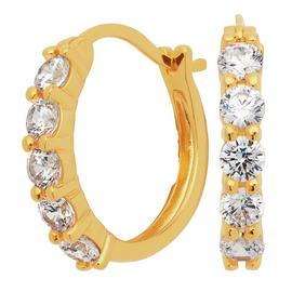 Revere 9ct Gold Plated Cubic Zirconia Creole Earrings