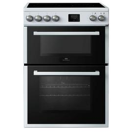 New World NWLS60DEW Double Oven Electric Cooker - White