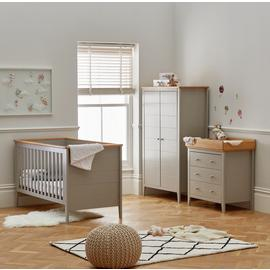 Cuggl Canterbury 3 Piece Nursery Furniture Set - Grey