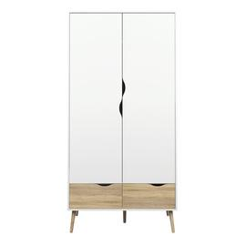 Viken 2 Door 2 Drawer Wardrobe - White and Black