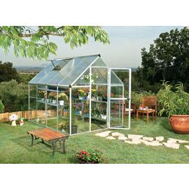Silver Aluminium Twin-walled Greenhouse - 6 x 8ft