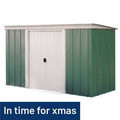 Arrow Metal Garden Shed - 10 x 4ft