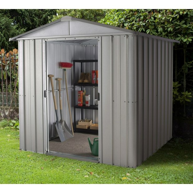 Buy yardmaster apex metal garden shed 6 x 4ft at argos for Garden shed 6x4 sale