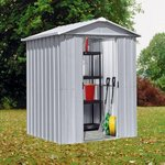 more details on Yardmaster Apex Metal Garden Shed - 6 x 4ft.