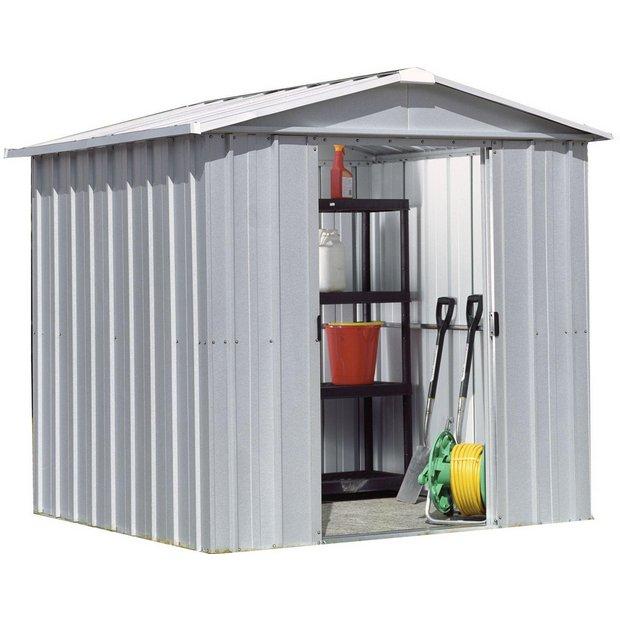 Buy yardmaster apex metal garden shed 6 x 6ft at argos for Garden shed 6x4