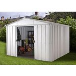 more details on Yardmaster Apex Metal Garden Shed - 10 x 8ft.