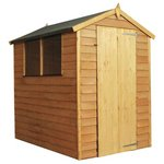 Mercia Overlap Apex Wooden Garden Shed - 6 x 4ft.